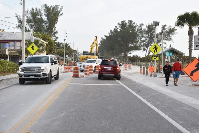 Portion of Gulf Drive will be reduced to one lane Tuesday
