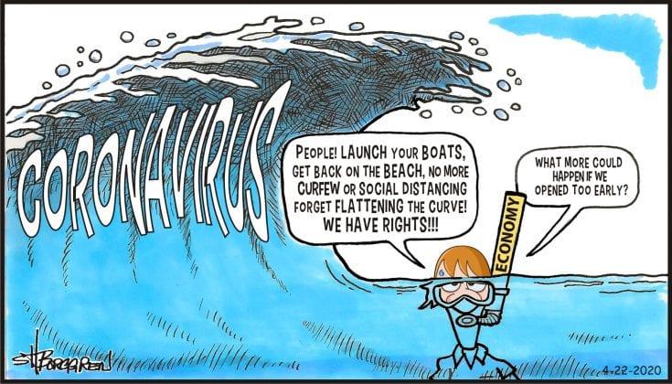 Political Cartoon Ami Sun